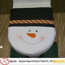 Alibaba China Delicate Christmas Snowman toilet ornament for promotion