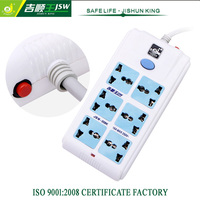 High quality power strip,home office surge protector with 6 outlets gsm sms socket