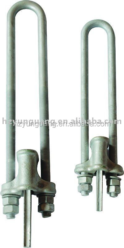 Power pole grip material guy wire fitting electric