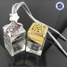 Hot Sell 5ml hanging car perfume glass bottle wood cap perfume bottle wholesale