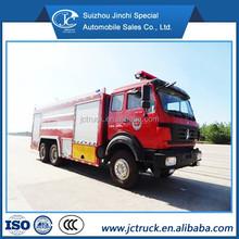 mercedes benz fire truck/ types of fire trucks North Benz 6x4 15CBM water fire fighting truck price