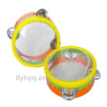 Instrumento musical pandeiro cabeça PVC pele tambor de plástico