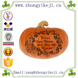 factory custom-made handmade carved fashion craft resin pumpkins