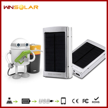 5V 2.1A dual usb port laptop solar charger 20000mah power bank