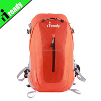 Orange color Mountain backpack with double soft straps