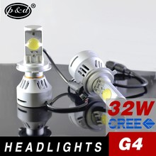 Car replacement light G4 super bright 6400lm h4 led headlight