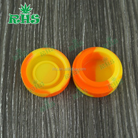 Colorful non-stick wax oil container storage jar,plastic chemical containers jars,silicone jars dab wax vaporizer oil container