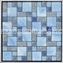 Azul Mate de baño de cristal del azulejo