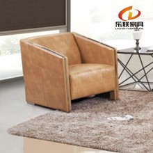 modern euro design pu leather metal frame office sofa clean S861