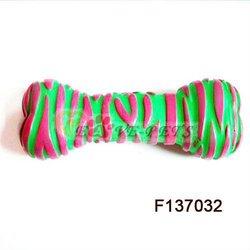 F137032 Rubber Material Bone Shape Quality Unique Dog Toys Mix Color 8*10 CM
