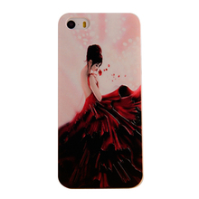 Mobile Phone Cases Mobile Shell 3D stereoscopic relief process applies to iphone5 / 5s beautiful red dress