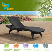 Partner Elegant Rattan Sun Lounge Beach Bed Beach Bed Folding Bed Cot