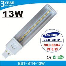 Promotion price 4G high lumens 85Ra g24 13w 60pcs smd5050 pl tube
