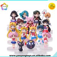 sailor moon plastic figure toys for kids , plastic anime sailor moon figure