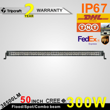 Top quality wholesale led light bar 50inch 288w 4d dual light bar spot/flood/combo beam for 4x4 suv 4wd driving auto light
