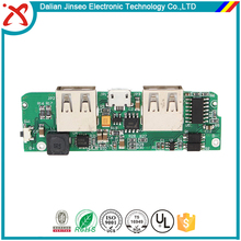 Dual usb charge ports power bank pcb assembly with overcharge and short circuit protect