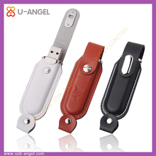 Promotion gift 4gb new leather usb flash drive