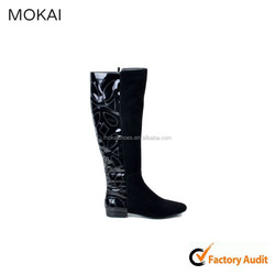 MK005-A1-black fashion women winter boot patent leather boot winter white leather boots winter boots fashion 2016