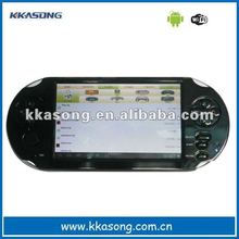 2012 hot sell portable handheld 32-bit game console player available to be connected to TV 5 inch type
