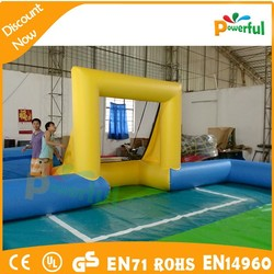 durable PVC inflatable football soap field,inflatable rugby pitch,football field for kid