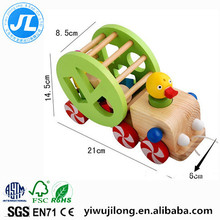 baby's educational toys wooden duck pull car toys shape sorter matching toys
