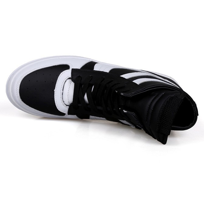 Free Shipping 2015 new fashion rick owen leather high-top male casual shoes side zipper rivet men\`s ankle boots flats Punk shoes-1 (10)