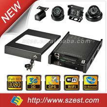 4ch built-in 3g/WIFI/g-sensor DVR security mini 1080P 720P Vehicle Digital Video Recorder