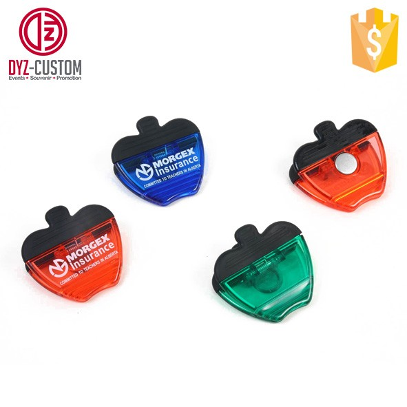 Apple shape plastic magnet clips.jpg