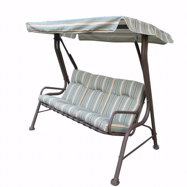 outsunny jardin patio balan oire 3 places balancer hamac en plein air coussin banquette chaises. Black Bedroom Furniture Sets. Home Design Ideas