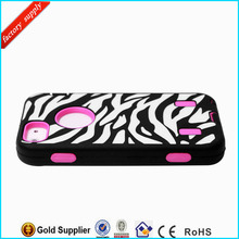 High Quality for iPhone 5 Zebra Combo Phone Case Cover