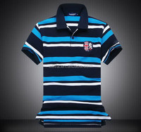 Low price hot sale men's stripe cotton polo shirt in china