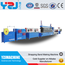 Low cost strap making machine