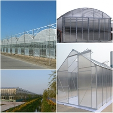 High Quality 10-year Warranty ISO Certification 100%Bayer Marolon indoor glass greenhousewith UV Protection