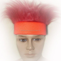 maroon crazy hair with red headband crazy hair