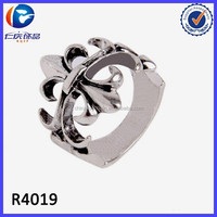 Ebay china website hot selling unique jewelry fleur de lis ring
