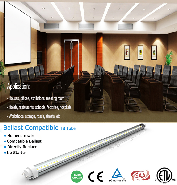 ballast compatible pas cher prix tuv allemagne led tube n on 120 cm 18 w lumi res de tube de led. Black Bedroom Furniture Sets. Home Design Ideas