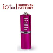 Shenzhen Factory OEM Lipstick Shape Metal USB Memory Stick 4GB