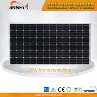 Widely use tempered glass monocrystalline 200w solar panel