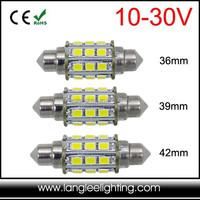 Festoon LED Bulb 10-30V 12V 24V 3W for Marine Auto Use