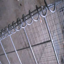 Folding welded wire gabion box with spring (china factory)