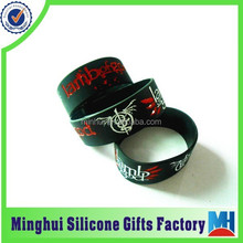 top quality lamb of god engraved color filled silicone wristband