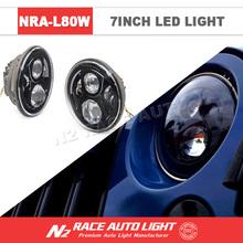 E-Mark Halo 7 inch round led headlight round angle eyes auto circle projector headlights