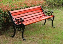 outdoor wood and metal park bench for sale