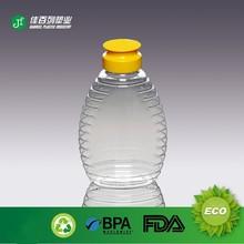 silicone cap honey packing bottle transparent fancy bulk plastic pet bottle 330ml