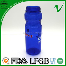 PCTG blue empty clear 700ml reusable plastic water bottles with wide mouth