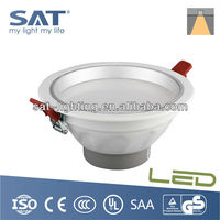 12W Nano Spray Easy Cleaning Recessed Downlight Zhongshan LED Lighting Factory
