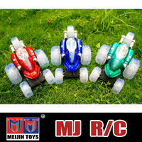 Meijin mini rc car with flash 6 red green and blue light