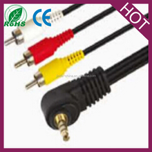 3.5mm Mini AV to 3 RCA Male Adapter Audio Video Camcorder Cable