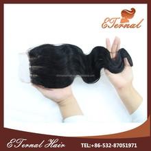 4*4 14'' indian virgin remy hair 3 way part hair closure piece silk base closure