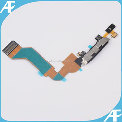 Black Charger Charging Dock Port Connector with Flex Cable for iPhone 4S Parts